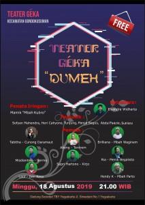 Teater Geka dalam Festival Teater tingkat Kota Yogyakarta 2019