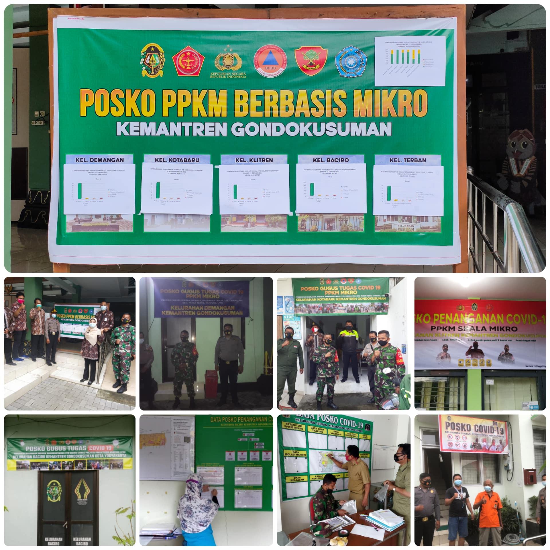 PPKM berbasis Mikro dan Pembentukan Posko COVID-19 di Kemantren Gondokusuman