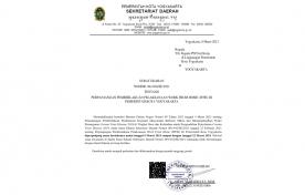SURAT EDARAN NOMOR: 061/604/SE/2021 TENTANG PERPANJANGAN PEMBERLAKUAN PELAKSANAAN WORK FROM HOME (WFH) DI PEMERINTAH KOTA YOGYAKARTA