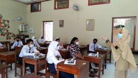 Uji Coba Pembelajaran Tatap Muka di perwakilan SD dan SMP di Wilayah Kemantren Gondokusuman