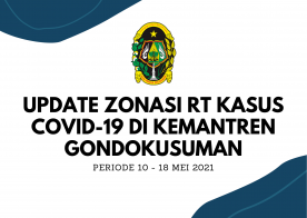 Update Zonasi RT Kasus Covid 19 periode 10 - 18 Mei 2021 Kemantren Gondokusuman