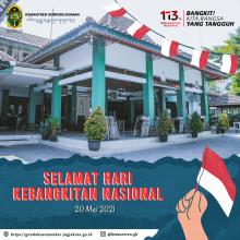 Upacara Peringatan Hari Kebangkitan Nasional yang ke-113 di Kemantren Gondokusuman