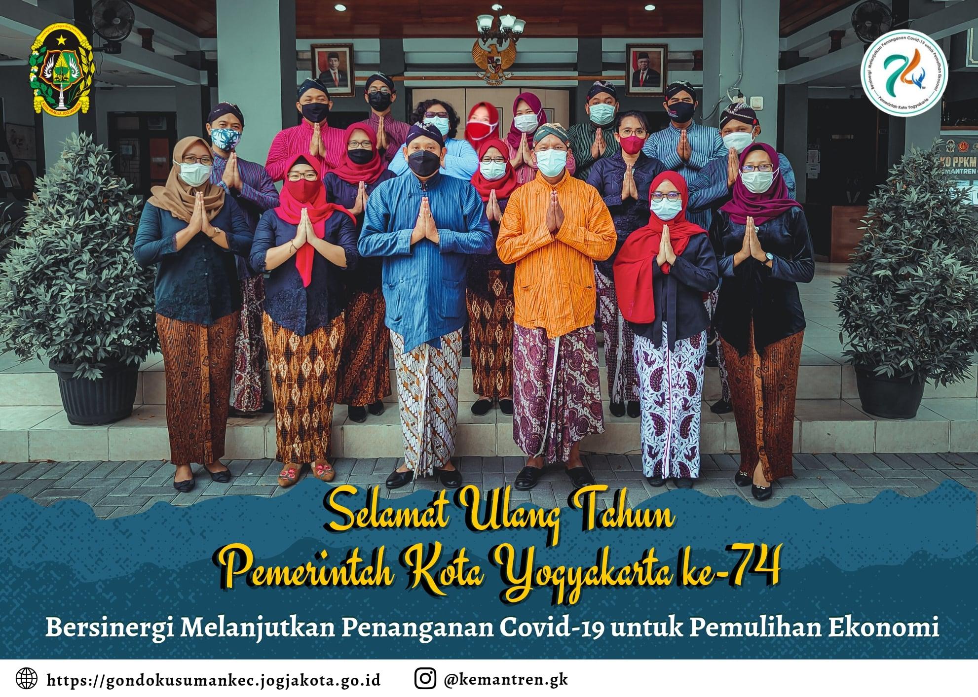 SELAMAT ULANG TAHUN PEMERINTAH KOTA YOGYAKARTA KE-74